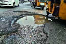 Pot-Holed Roads In City To Be Repaired In A Couple Of Days: GHMC
