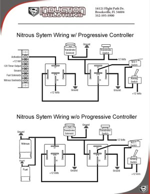 Wiring with and without a progressive controller
