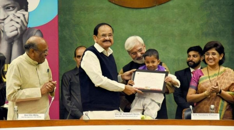 VP Naidu urges MPs to prioritize child welfare policies, education & nutrition