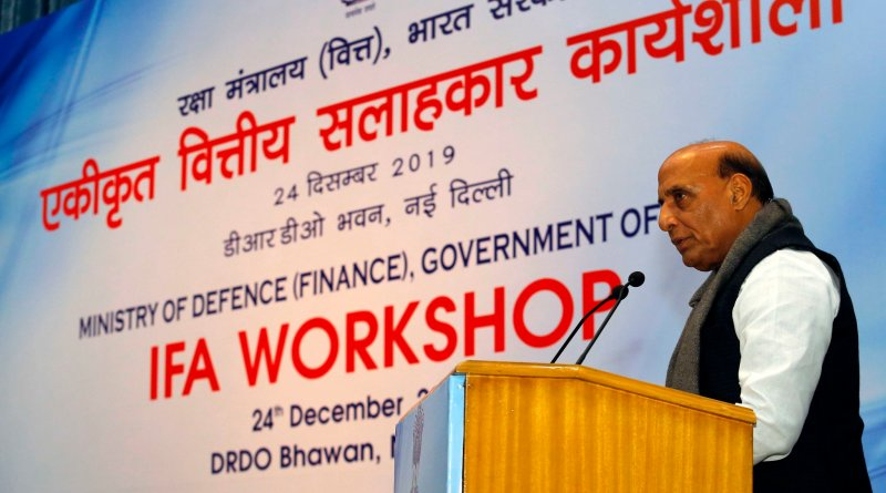 Minister Rajnath, Defence Secretary address Financial Advisors workshop