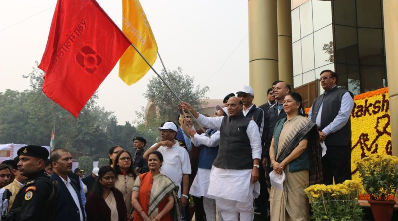 Rajnath flags off massive campaign against single-use plastic by Defence Services & orgs