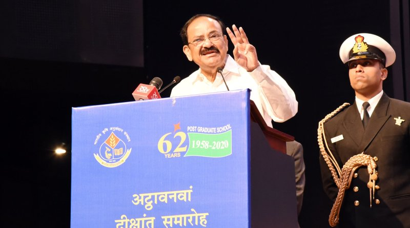 Focus on productivity of small farmers, promote climate-resilient agri: VP Naidu at IARI Convocation