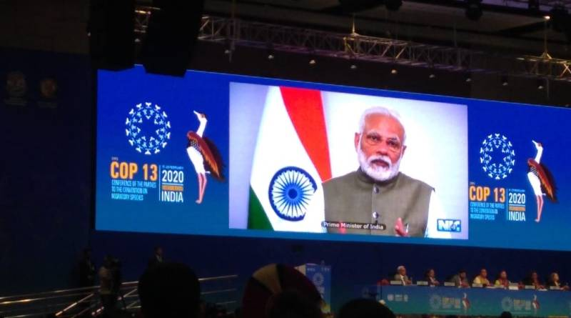 PM Modi at CMS COP13: India's tiger population doubled 2 years before deadline