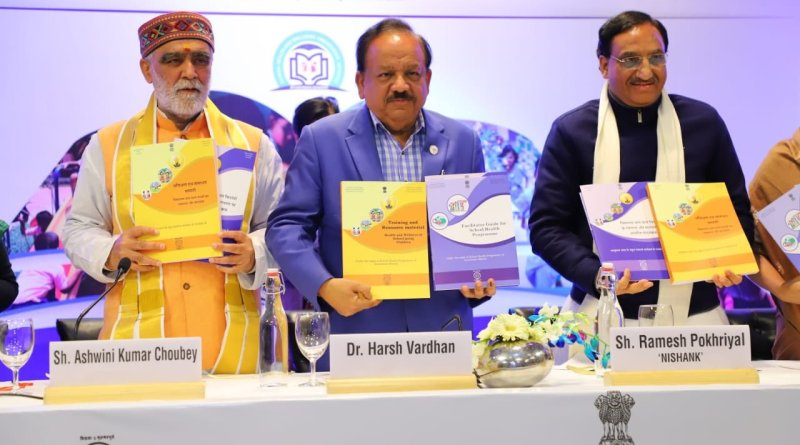 Pokhriyal, Vardhan launch school Health Ambassador Initiative under Ayushman Bharat