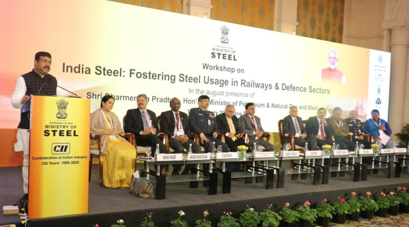 Steel Minister Pradhan asks industry to reduce railway, Defence sector imports