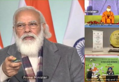 PM Modi laying foundation of Light House Project