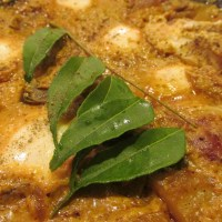 Eggs in curried coconut sauce (Kerala Style Egg curry)