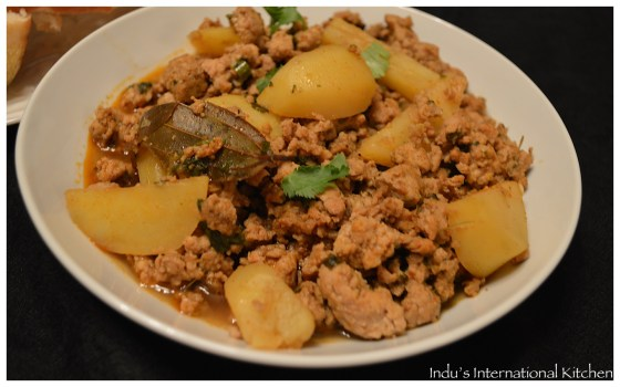 Kheema curry with potatoes