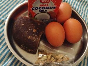 Wattalapam ingredients