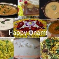 Tangy Bitter gourd curry (Paavakka Varutharachathu) and a round up of Onam Sadya recipes