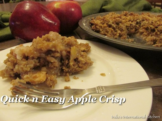 Baked apple with oats