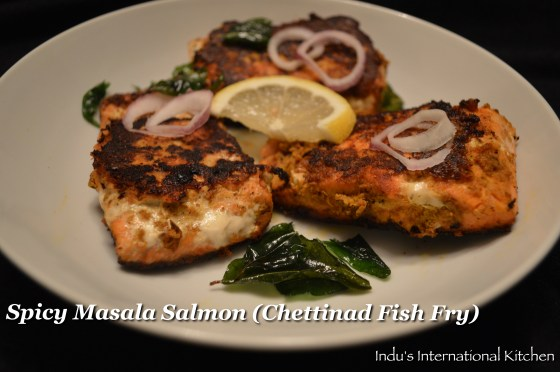 Spicy Masala salmon