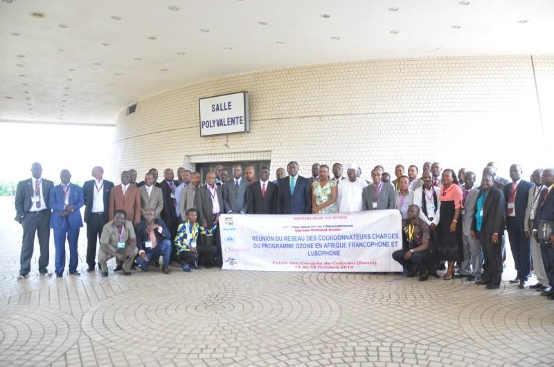 Foto di gruppo. Ultimo a sinistra il docente CSG Madi Sakande