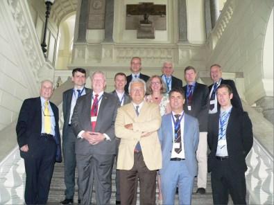Foto di gruppo dei Presidenti del XVI Convegno Europeo sullo scalone d'Onore del Politecnico di Milano da sinistra: E. Buoni (Direttore Centro Studi Galileo),  D. Coulomb (Presidente IIR), T. Phoenix (Presidente ASHRAE), S. Yurek (Presidente AHRI),  E. Macchi (Professore Politecnico di Milano), A. Voigt (Direttore Generale EPEE), M. Buoni (segretario ATF), P.Buoni (Direttore European Energy Center); in ultima fila da sinistra: J. Curlin (UNEP), A. Cavallini (Professore Università di Padova e Presidente Onorario Istituto internazionale del Freddo di Parigi), P. Jonasson (Presidente AREA), H. Halozan (Professore Università Tecnologica di Graz)