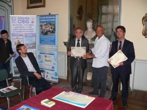 Consegna dei diplomi nella Sala Galileo del Centro Studi Galileo con Cattabriga e Buoni