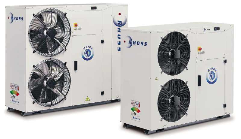 Air/water heat pump / reversible