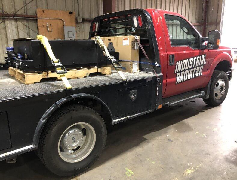 quarry equipment radiator repair job