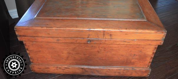 Antique Carpenters Tool Chest Industrial Caffeine