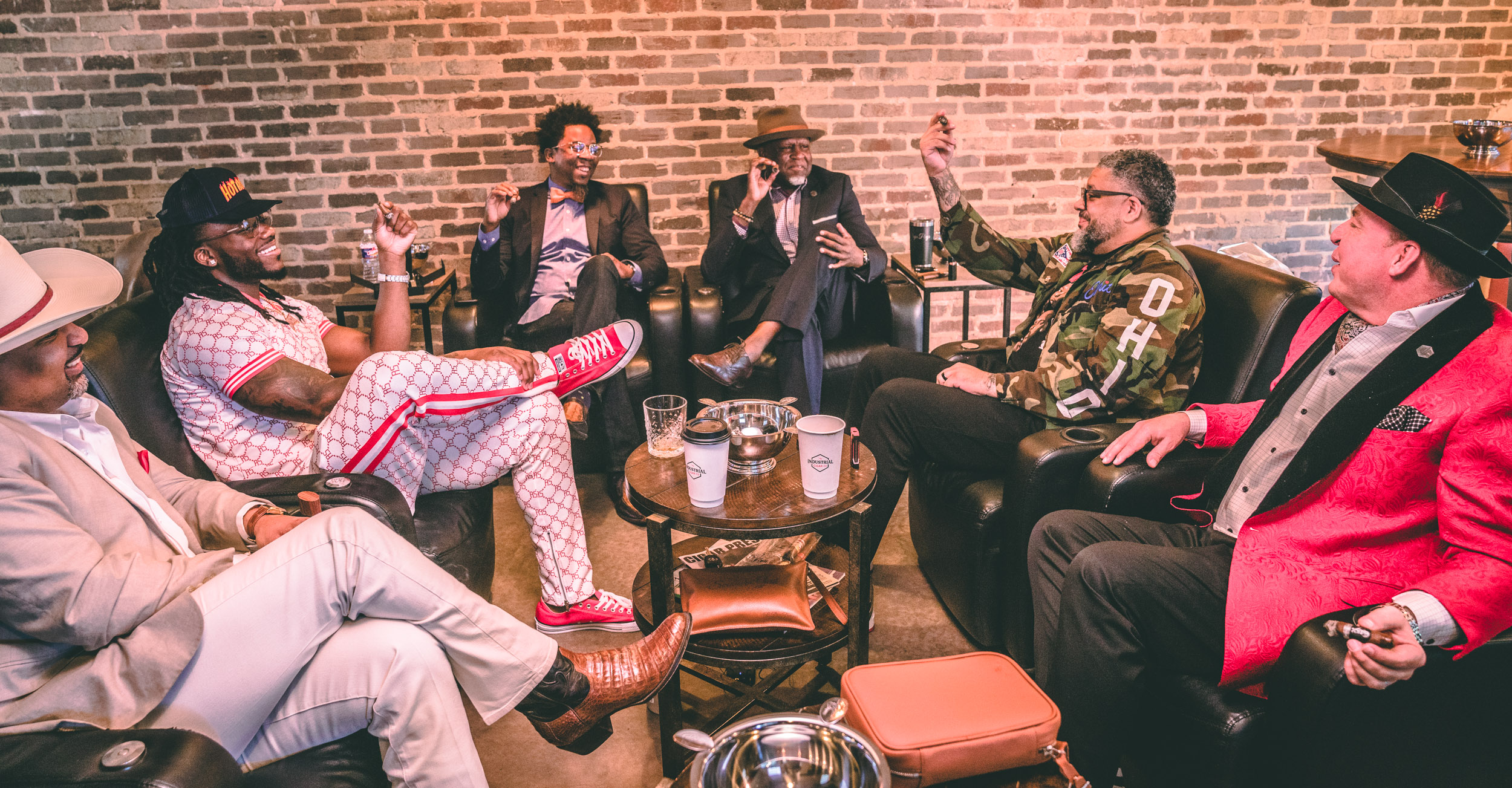 Industrial Cigar Co. with Jaylon Smith, Cutz Damato, Dave Frakes, RD Frazier, Lee Hardman, and Tyrone Demery