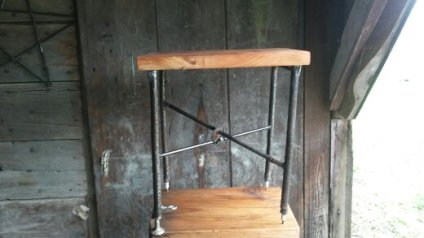 Steel-wood-table