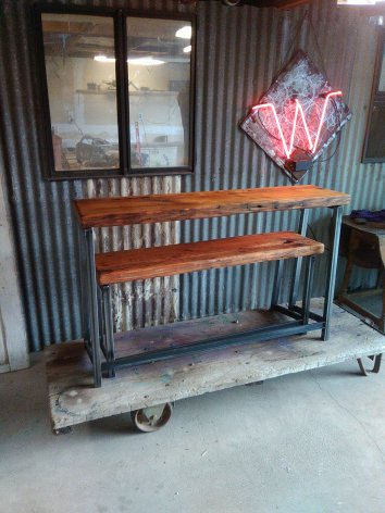 Side-table-and-bench