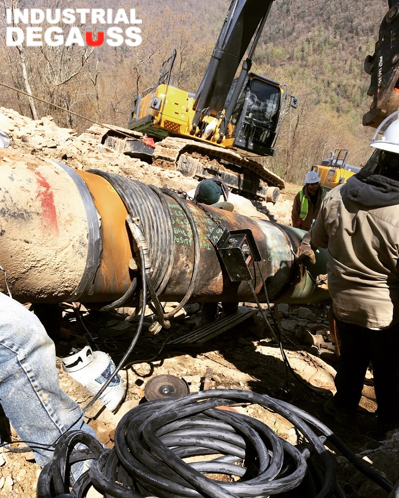 IDMAG Pipeline Demag System in Pennsylvania Mountains!