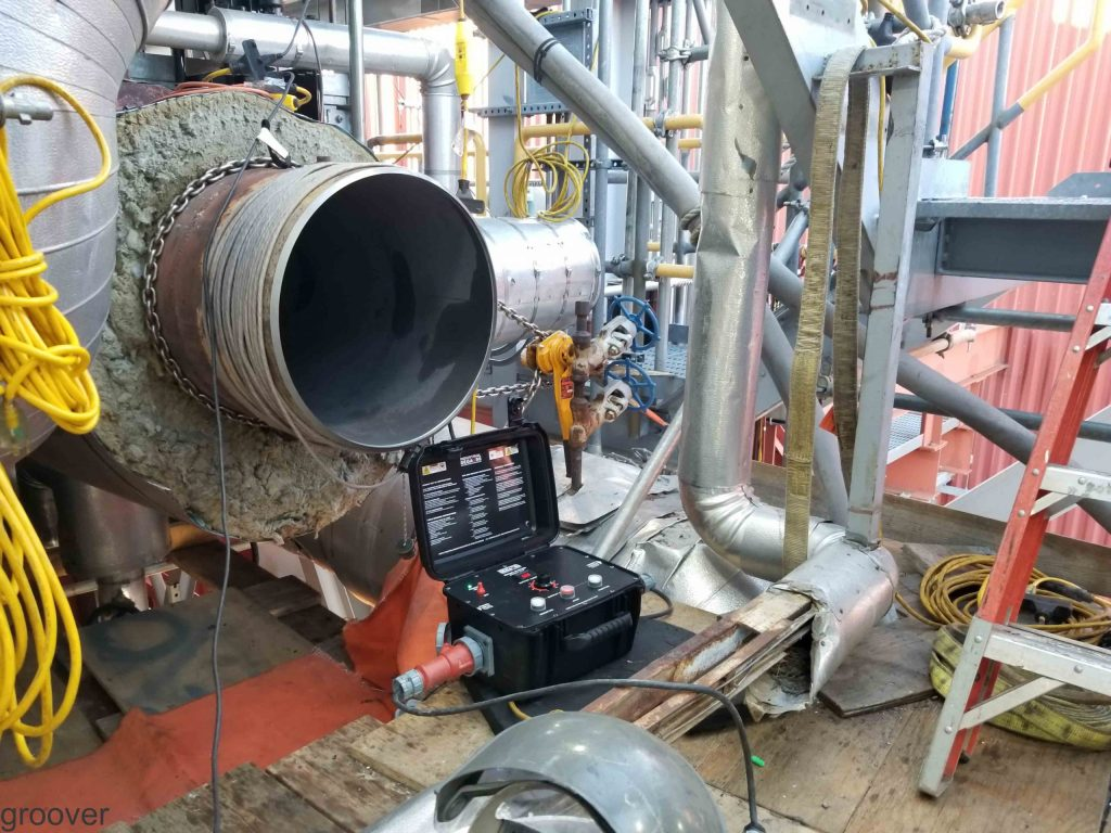 MAGNETIZED HEADER AT POWER PLANT