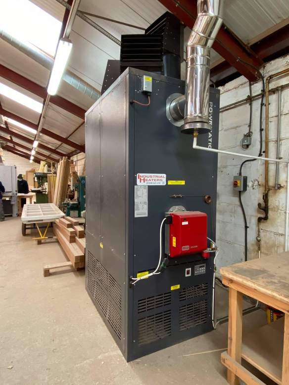 Industrial Heaters installation Gas (Natural and LPG) and Oil Fired Warm Air Cabinet Heaters