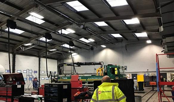 Industrial heater installation spaceray