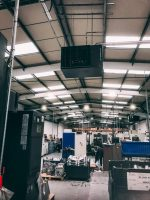 Industrial Heaters installed at a precision engineering workshop in Andover a warm air heating solution for their current building