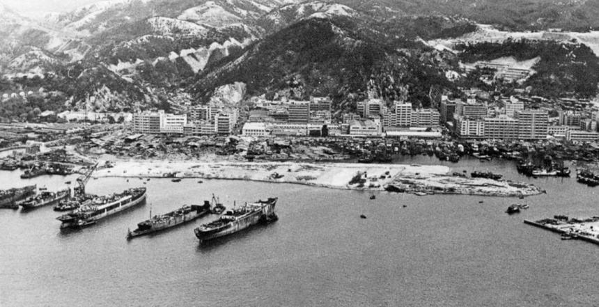 Ship breaking Cheung Sha Wan May 1963