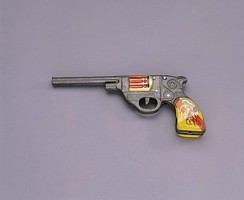 Wooden toy pistol - Made in HK 1950s