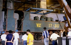 Unloading from a truck inside Fo Tan depot 1995