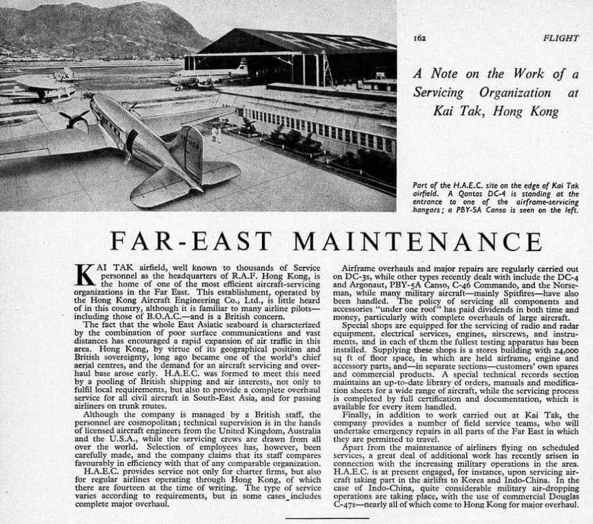 HAECO Flight Magazine 8 Feb 1952