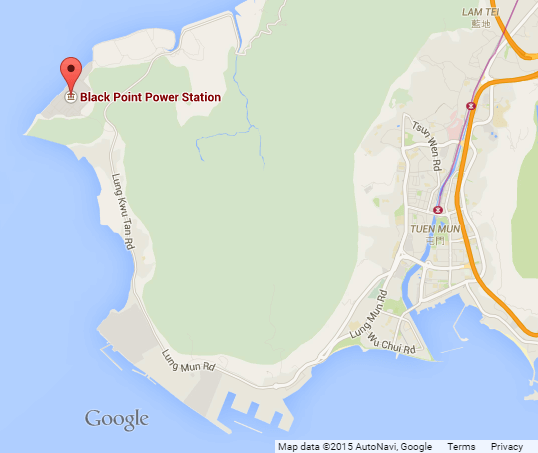 Black Point Power Station google map snipped