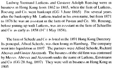 Scheele and Company German speaking HKBRAS