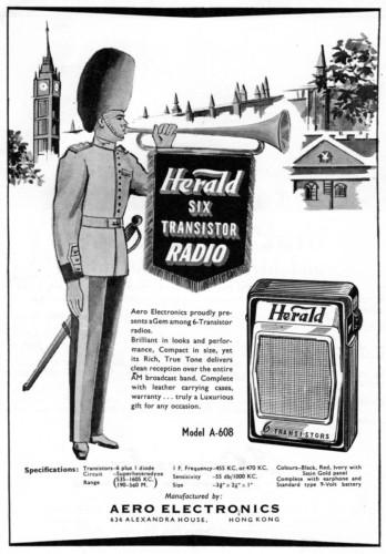 Aero Electronics-1963 advert transistor radio2 IDJ