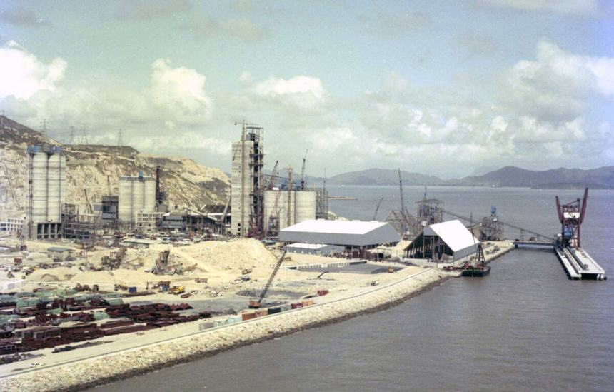 China Cement site & bulk materials jetty-Tuen Mun-circa 1982 IDJ