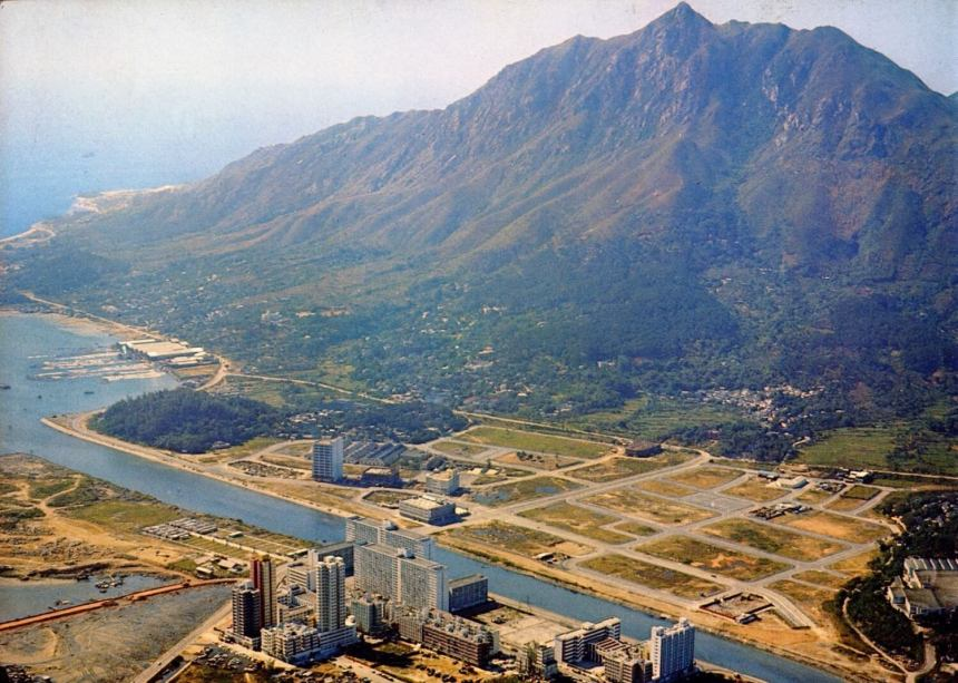 Tuen Mun industrial area with roads laid out waiting for factories