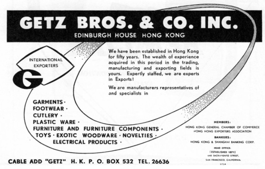 Getz Bros & Co 1963 Advert From IDJ