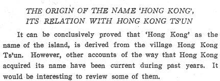 A History of HK prior to British Arrival - origins of name Hong Kong a