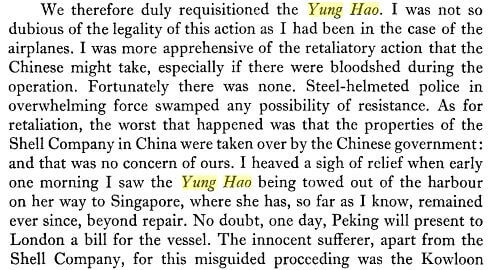 Yung Hao, b extract from Via Ports, HK to HK, Alexander Grantham