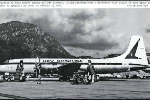 LLoyd International Article Flight International Brittania Plane At KI TAK 31 Oct 1968 From IDJ