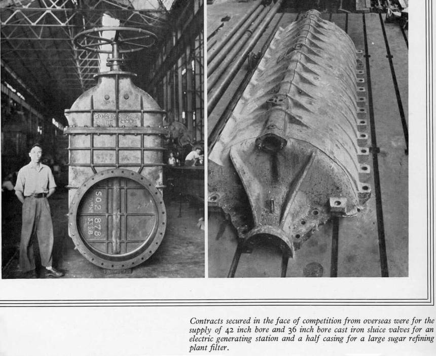 Taikoo Docks Fifty Years of Shipbuilding 1954 General Engineering c Cast Iron Sluice Valves