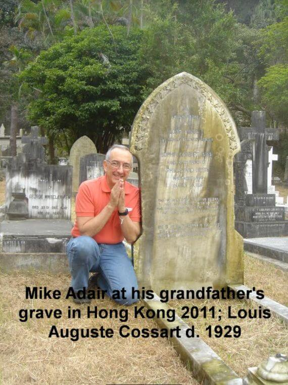 Louis Cossart Grave 2011 From Mike Adair