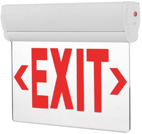 led emergency exit signs large