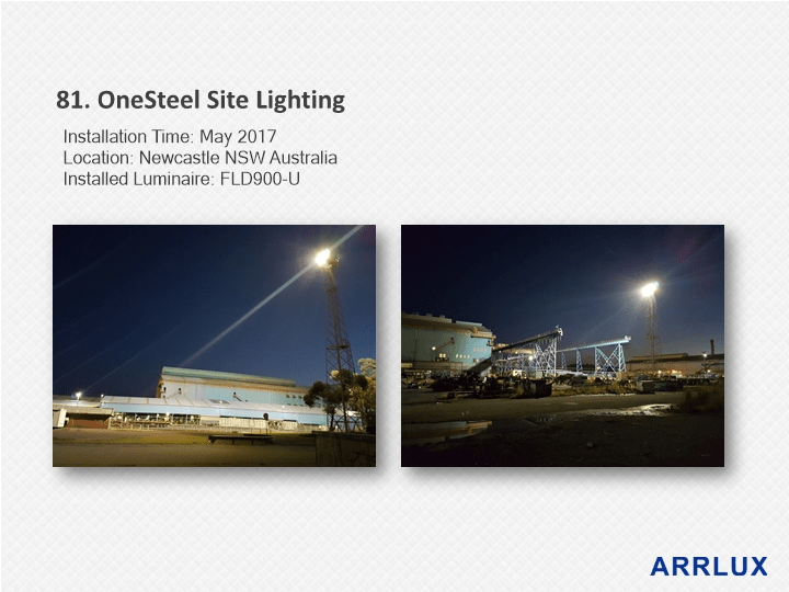 LED High MastLighting AURORA Seriesby Arrlux Outdoor Area Lighting