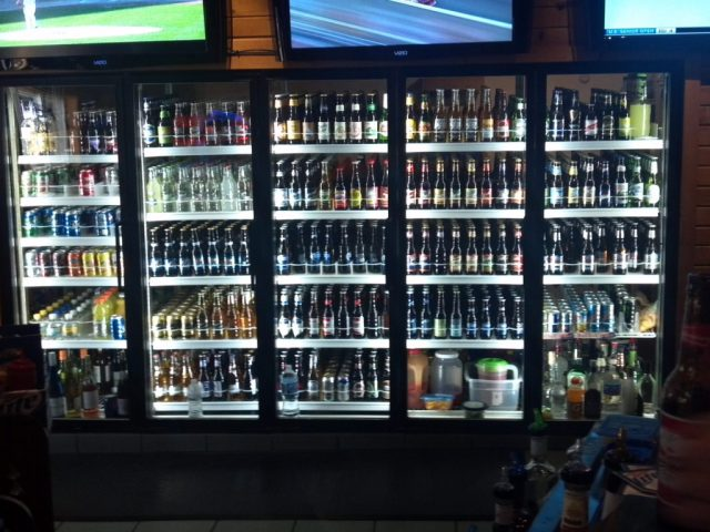 LED cooler door lighting Idas tavern
