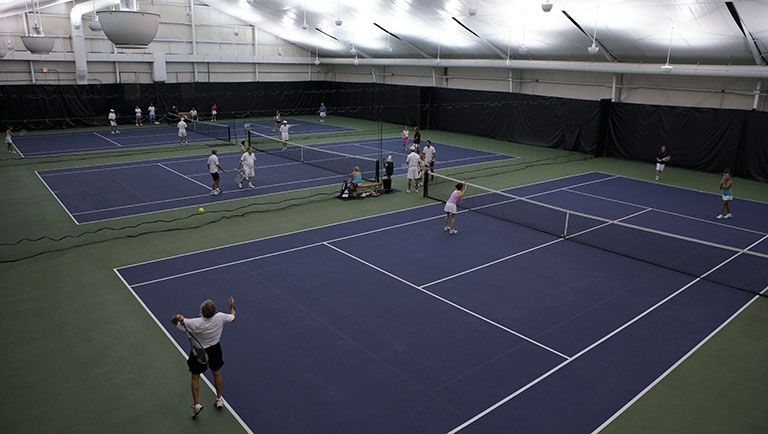 LED indoor tennis court lighting