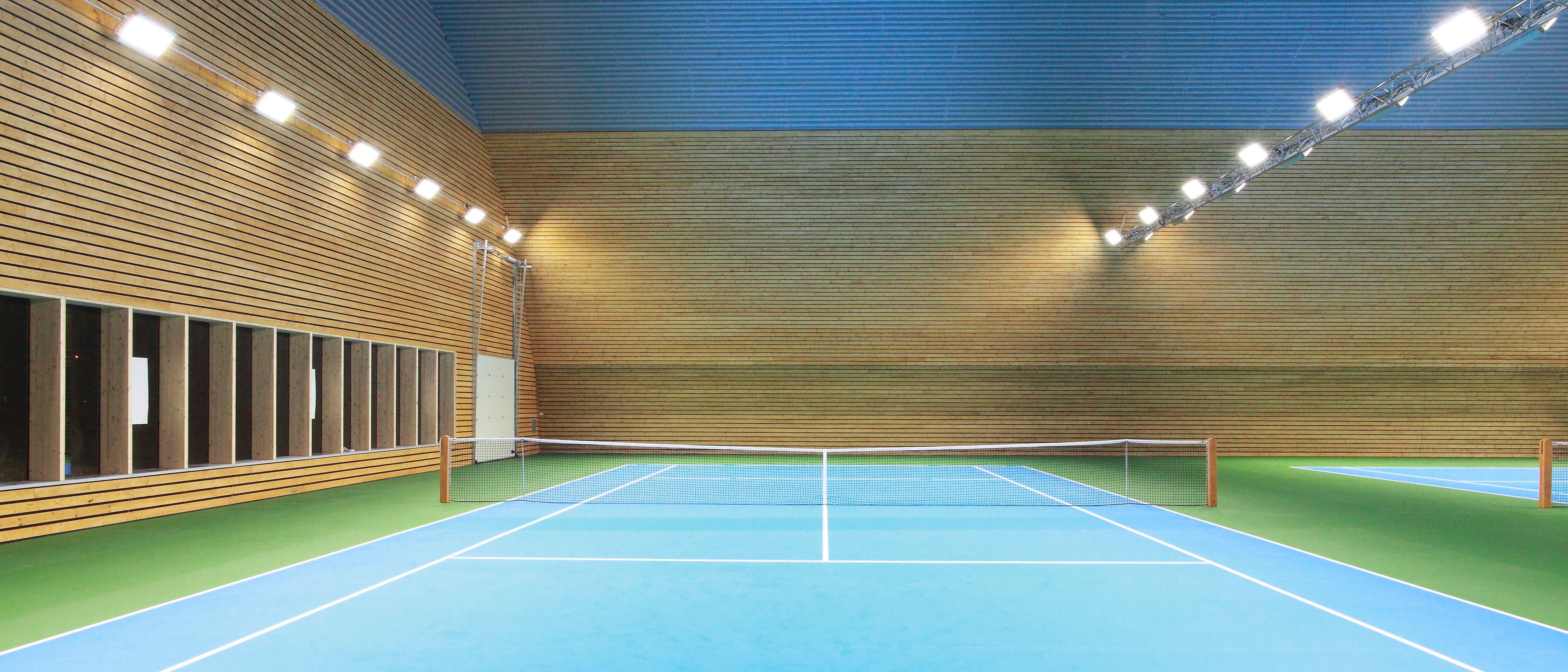 indoor tennis courts lighting case